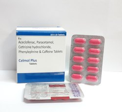 Aceclofenac Paracetamol Cetirizine Hyd Phenylephrine Caffeine Tablets