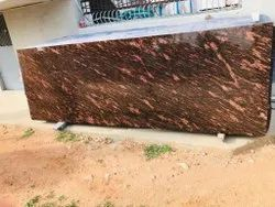 Polished Tan Brown Granite Slab, For Flooring, Thickness: 16 mm