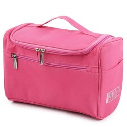 Handcuffs Travel Toiletry Organizer Bag Unisex Portable Travel Cosmetic Organizer (Pink)
