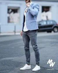 Flippy Blue Party Wear Coat