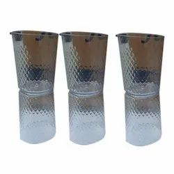 PET Plastic Transparent Juicy Crystal Drinking Glass, For Home, Capacity: 400 Ml