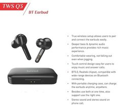Black Wireless Beetel BT Earud Q3