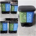 Food Grade Virgin Red and Blue Wheeled Garbage Bin, Size: 120lts
