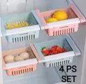 4 Pcs Adjustable Fridge Storage Basket Set