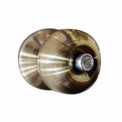 Brass Round Knob Door Lock, Box, Size: 4 Inches
