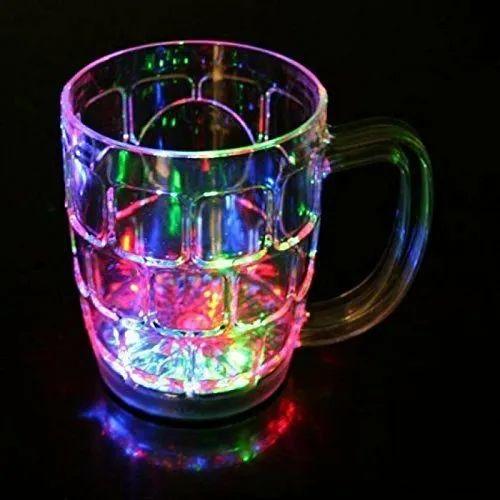 Transparent LED Light Glass Mug, Capacity: 150 ML