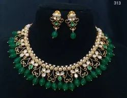 Cubic Zironica Kundan Necklace Set