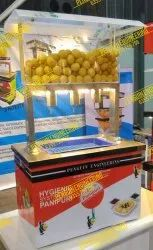 3 Nozzle Table Top With Bucket  Pani Puri Filling Machine