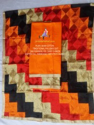 Unstitched Unstitch Phulkari Plain Jaam Cotton Suits, Handwash