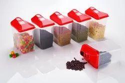 Plastic Easy Flow Storage Container, Capacity: 1700 Ml