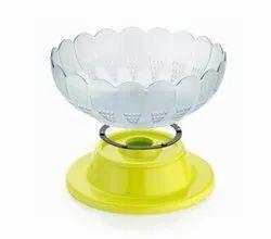 Plastic Revolving Vegetable And Fruit Basket Bowl
