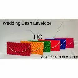Rectangular Handmade Wedding Cash Envelope