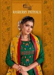 Balaji Rasberry Vol 5 Cotton With Embroidery Work Dress Material Catalog