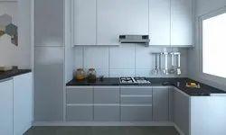 Stainless Steel L Shape Modular Kitchen