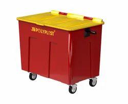 J.s Polyplast Red 660 Ltr Wheeled Bin, For Hospital, Capacity: 500 Litre