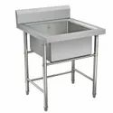 Expo Refrigeration Stainless Steel Single Bowl Kitchen Sink, For Hotels