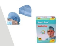 Round Blue Surgoen Cap, For Medical, Quantity Per Pack: 100 Piece