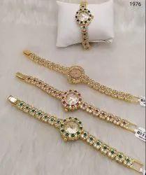 Designer Artificial Ladies American Diamond Watches
