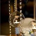 Hanging Glass Ball Candle Holder