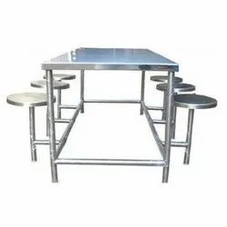 Silver Ss Dining Table Set, For Hotel