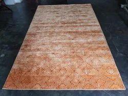 For Office Orenge Jacquard Handloom Carpet