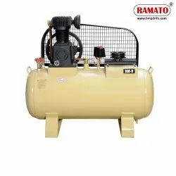 RMT-8 2 HP 2 PISTON Single Stage Air Compressor With 132 LTR Tank