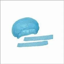 Blue Disposable Non Woven Bouffant, Quantity Per Pack: 100 Pieces, Size: Free