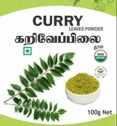 Organic Curry Leaf Powder, Packaging Type: Pouch, Packaging Size: 100g