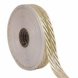 Lurex - Gold Jali Diagonal Patti Ribbons 25mm/1'' Inch Ribbon
