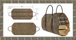 Heavy Duty Wax Canvas Firewood Carry Bag