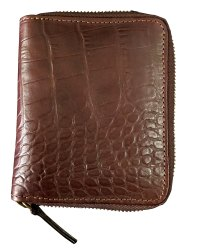Crocodile Printed Leather Men Wallet With RFID Protected