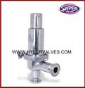 Screwed Angle Sanitary Pressure Relief Valve