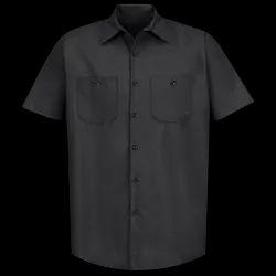 Men Black Worker Shirt, S - Xxl