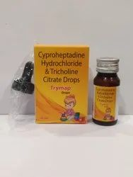 Cyproheptadine Hydrochloride 1.5 mg & Tricholine Citrate Solution 55 mg