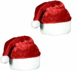 Christmas Santa Claus Velvet Cap For Christmas Role Play Party