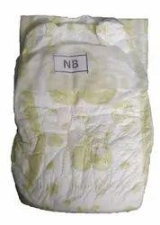 Disposable Cotton New Born Open Velcro Baby Diaper, NB
