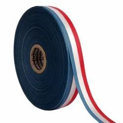 Double Satin Medallion - Blue, White, Red Ribbons 25mm/1Inch 20mtr Length