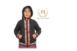 Children Hooded Kids Printed Cotton Wool Jacket, Full Sleeves
