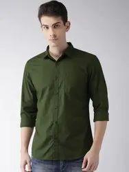 VSPL Cotton Green Men Formal Shirt, Handwash