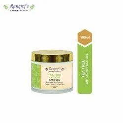 Rangrej''s Aromatherapy Tea Tree Anti Acne Face Gel For Skin Lighten/Brighten/Glowing