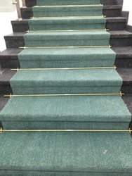 Green Plain Room Floor Carpet