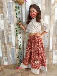 Girls Ethnic Dress Hand Block Print