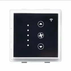 Touch Black fan dimmer roma module wifi, 230v, Number Of Modules: 2modole
