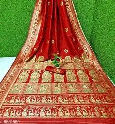 Truly Mithila 6.3 m (with blouse piece) Baluchari Silk Saree