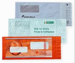 Plastic Cheque Book Security Envelope, For Courier, Thickness: 70 Micron