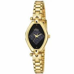 Oval Dial Golden Wrist Watches