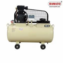 RMT-5A 1 HP 2 Cylinder Single Stage Air Compressor With 80 LTR Tank