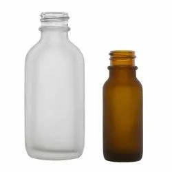 Transparent Frosted Glass Bottle