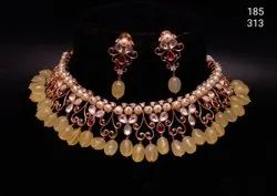 Designer Party Wear Kundan Fancy Necklace Set