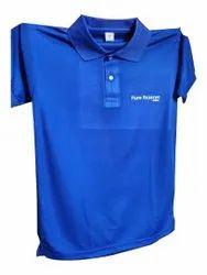 Cotton Blue Printed T Shirts